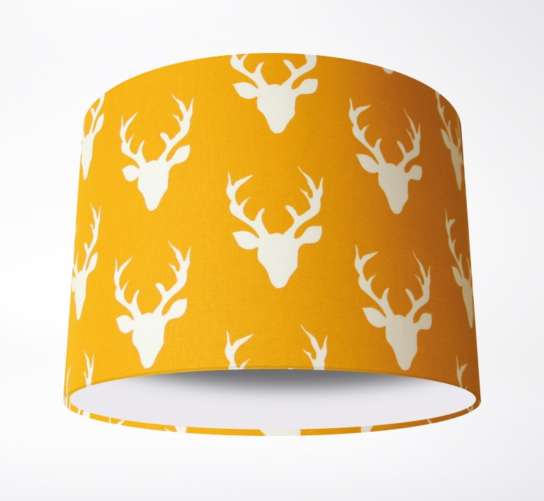 Stags_Lampshade_MustardPLAIN