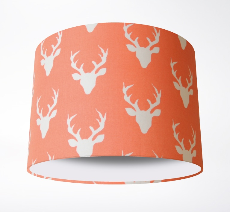 Stags_Lampshade_PeachPLAIN