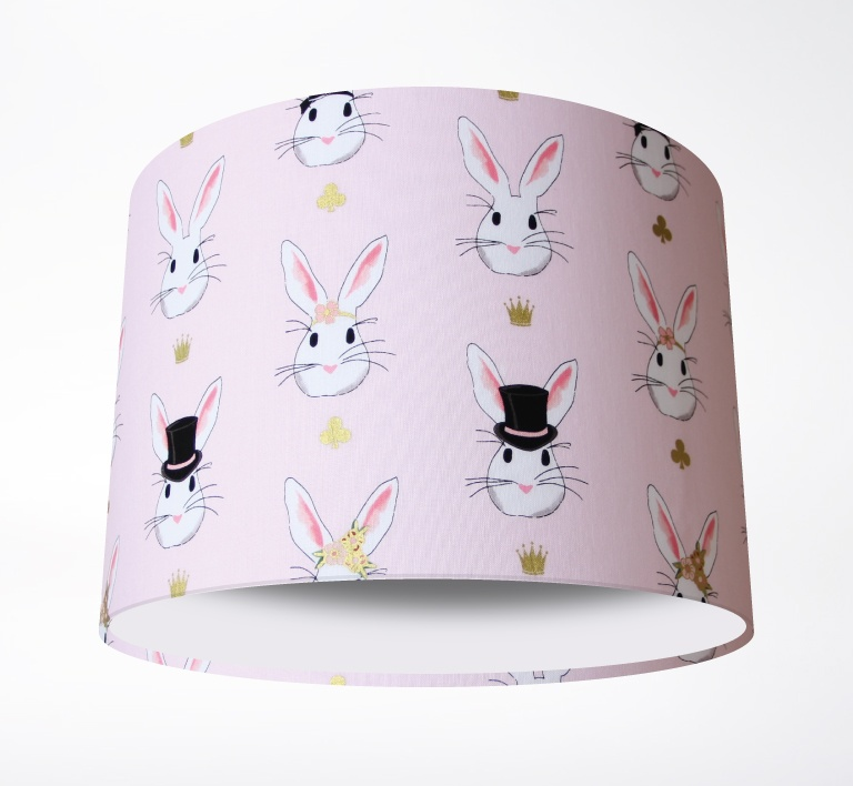 Wonderland_Bunnies_Pink_Lampshade-PLAIN