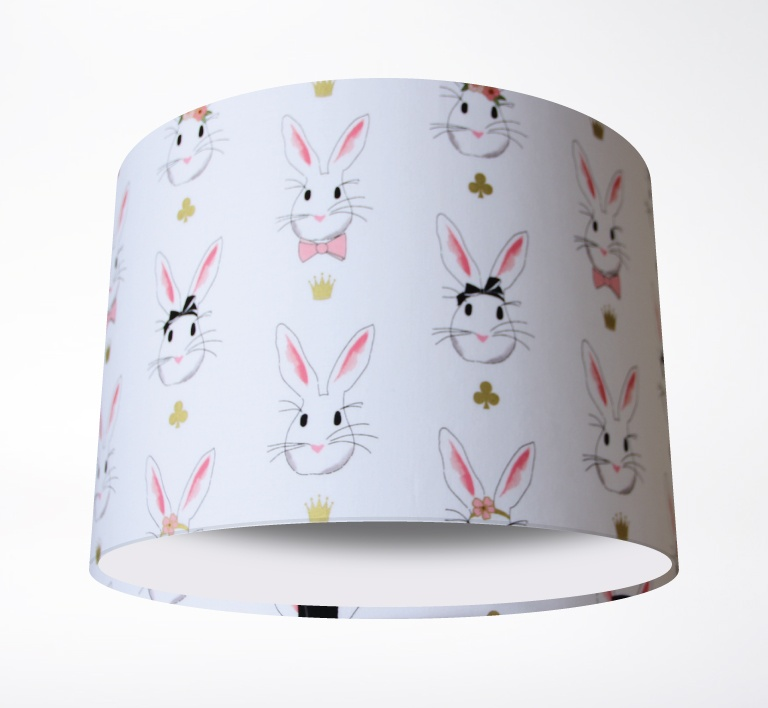Wonderland_Bunnies_White_Lampshade-PLAIN