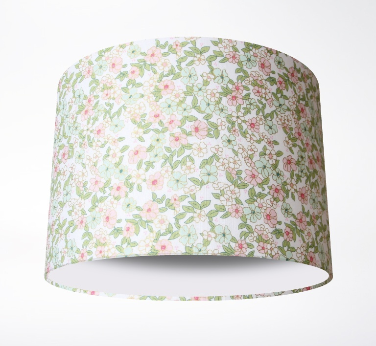Wonderland_Floral_White_LampshadePLAIN