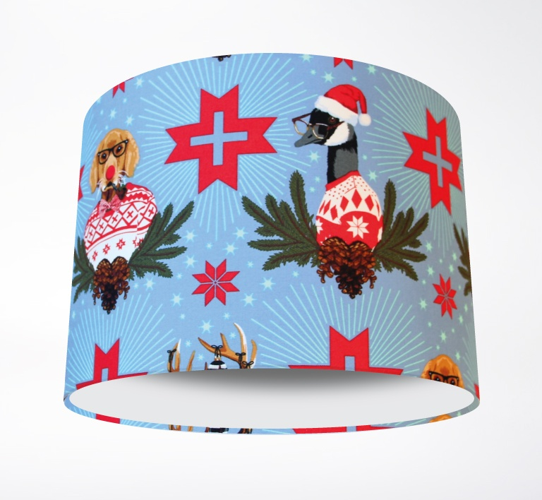 Holiday_Homies_Blue_Lampshade-PLAIN