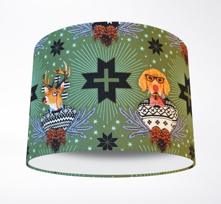 Holiday_Homies_Green_Lampshade-PLAIN