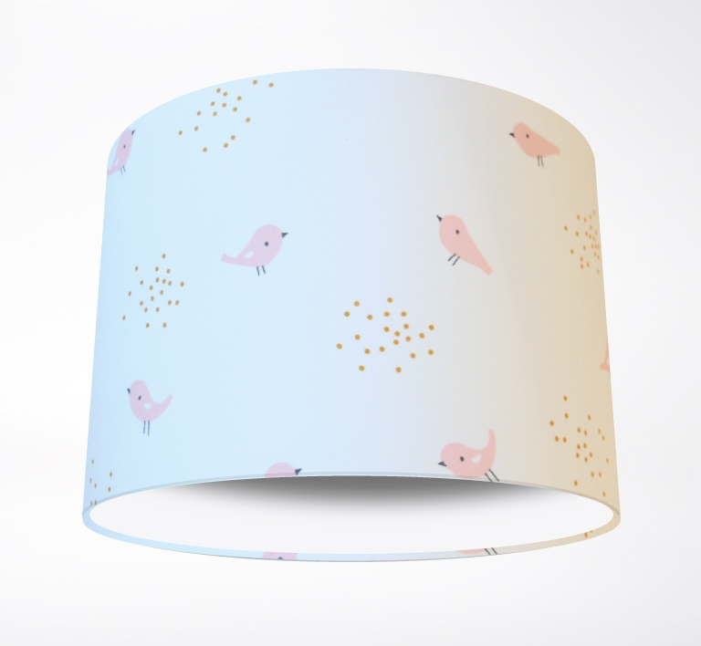 Little_Bird_Pink_Nursery_Lampshade-PLAIN