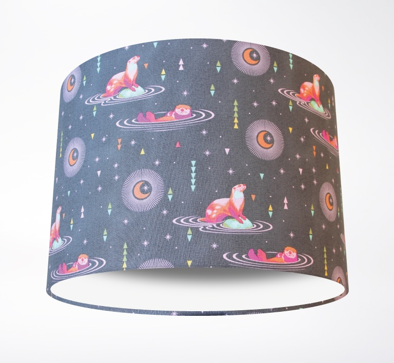 New_Age_Otters_Lampshade-PLAIN