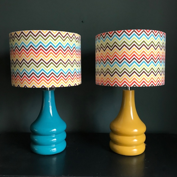 Teal Retro Table Lamp Lampshade Parade