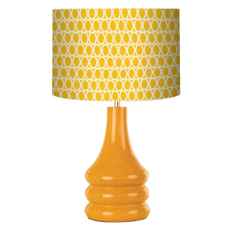 Yellow ovals mustard retro lamp lampshade parade yellow ovals mustard retro lamp aloadofball
