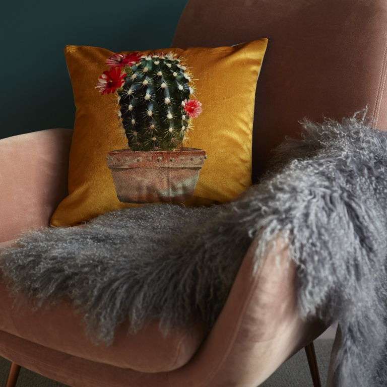 Cactus Cushion Gold