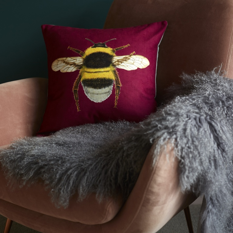 Bee Cushion Berry