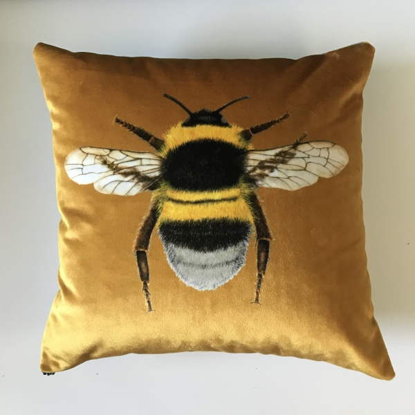 Bee Cushion Gold Lampshade Parade