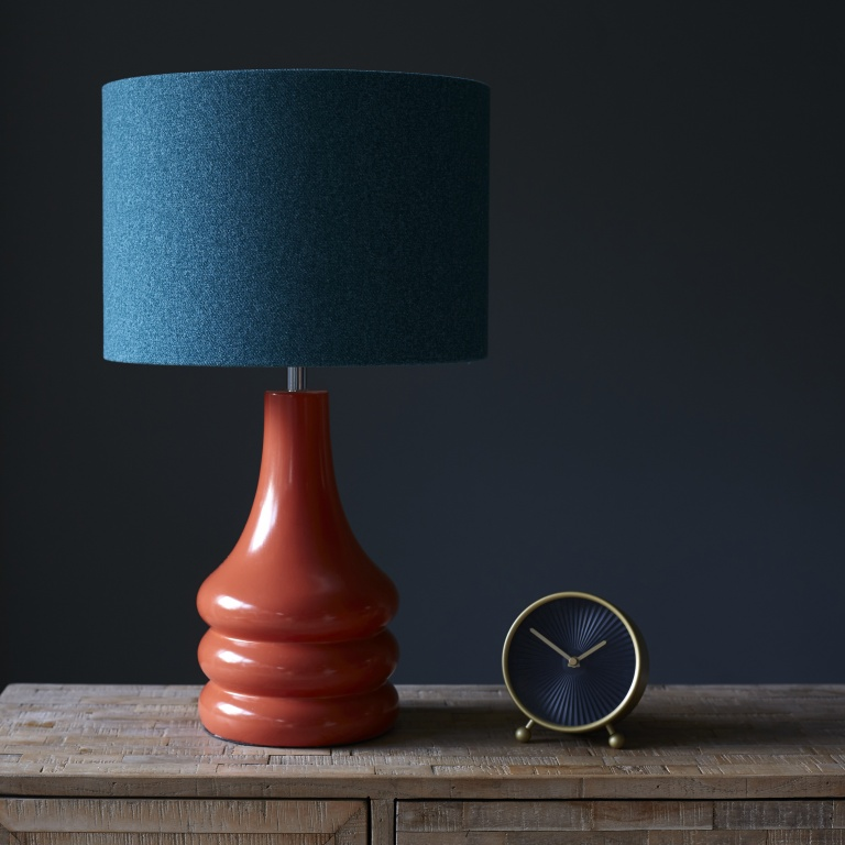 Retro Burnt Orange Lamp Base