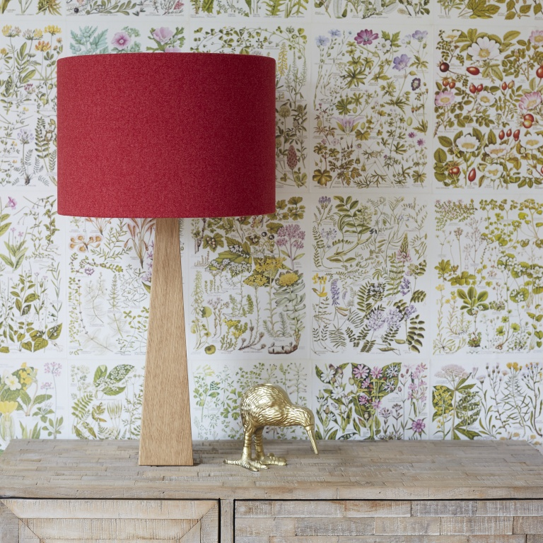 Poppy Red Wool Lampshade