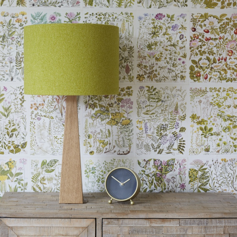 Citron Green Wool Lampshade