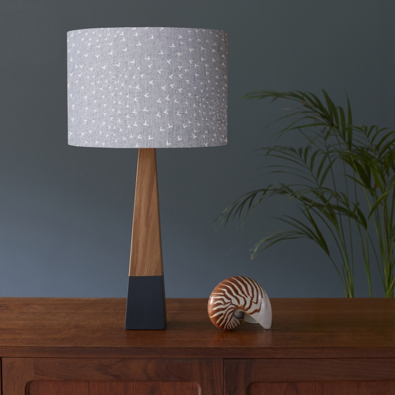 Flocking Birds & Oak Grey Lamp