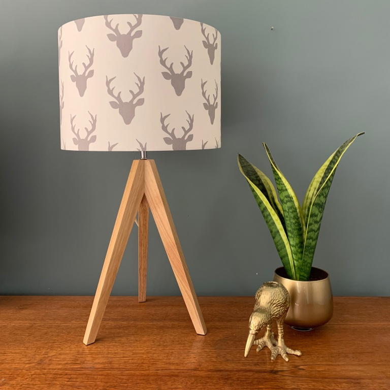Stags and Tripod Lamp
