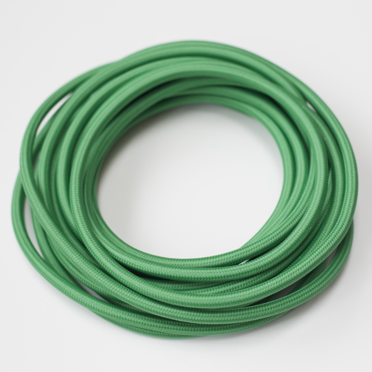 Bright Green Round Fabric Lighting Cord Flex.jpg