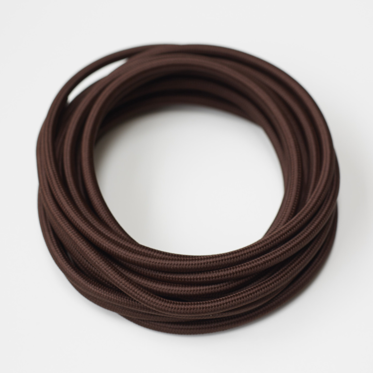 Brown Round Fabric Lighting Cord Flex.jpg