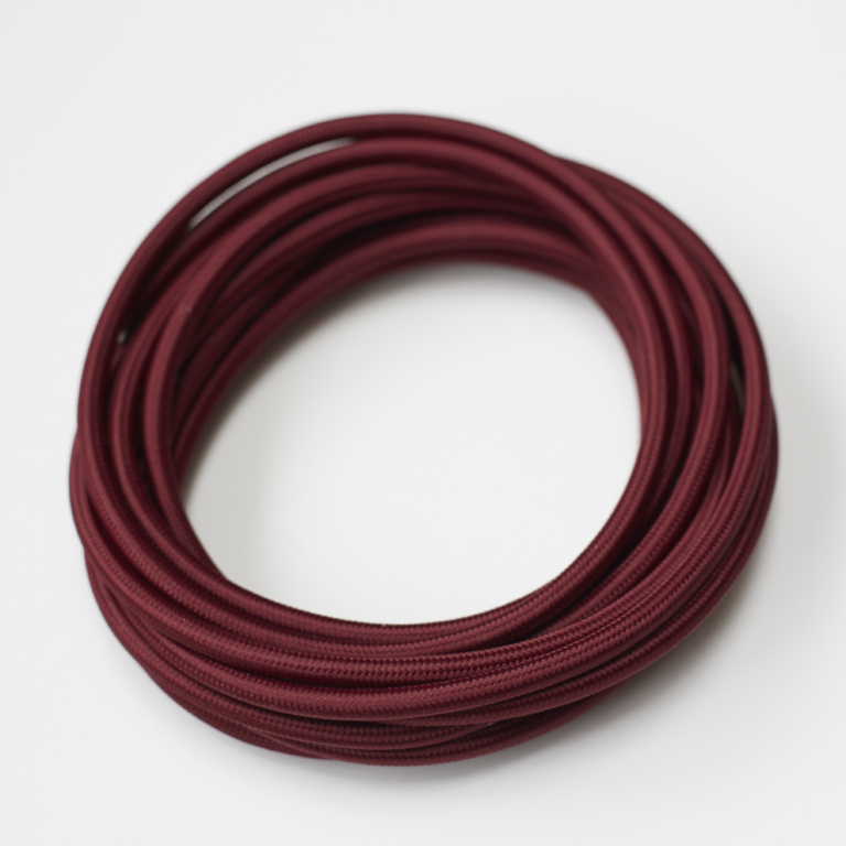 Burgandy Round Fabric Lighting Cord Flex.jpg
