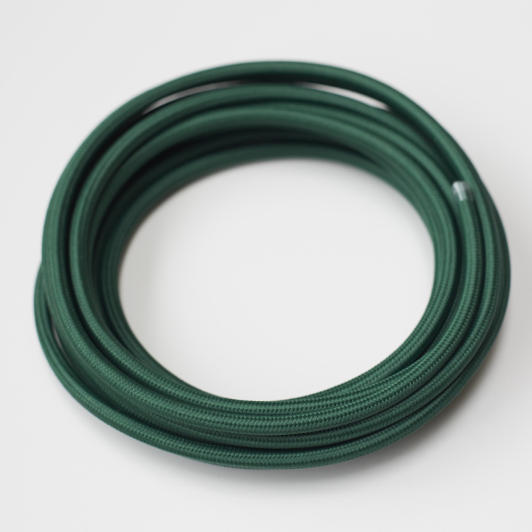 Dark Green Round Fabric Lighting Cord Flex.jpg