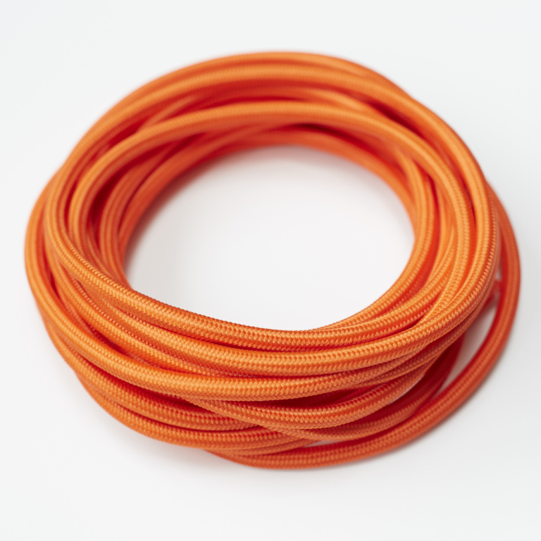 Orange Round Fabric Lighting Cord Flex.jpg