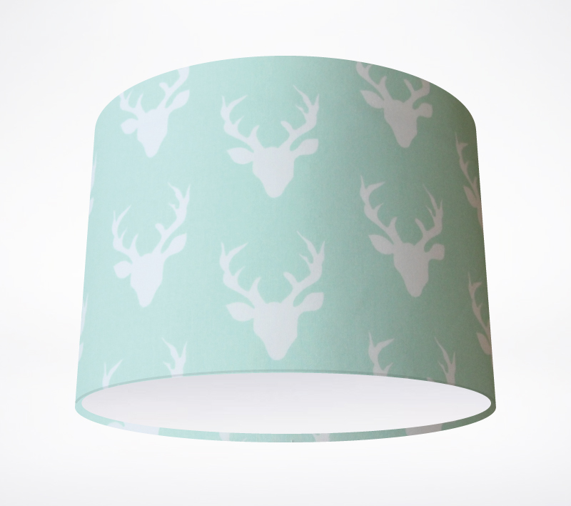 Stags mint lampshade share