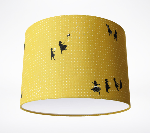 zephyr mustard lampshade lampshade parade. Black Bedroom Furniture Sets. Home Design Ideas