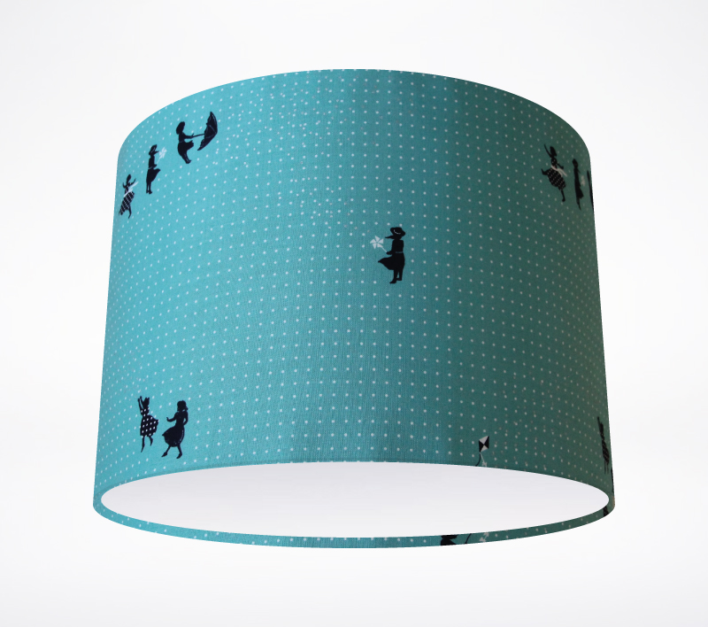 zephyr teal lampshade lampshade parade. Black Bedroom Furniture Sets. Home Design Ideas